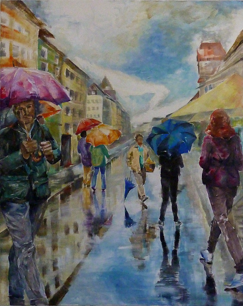 Überlingen im Regen