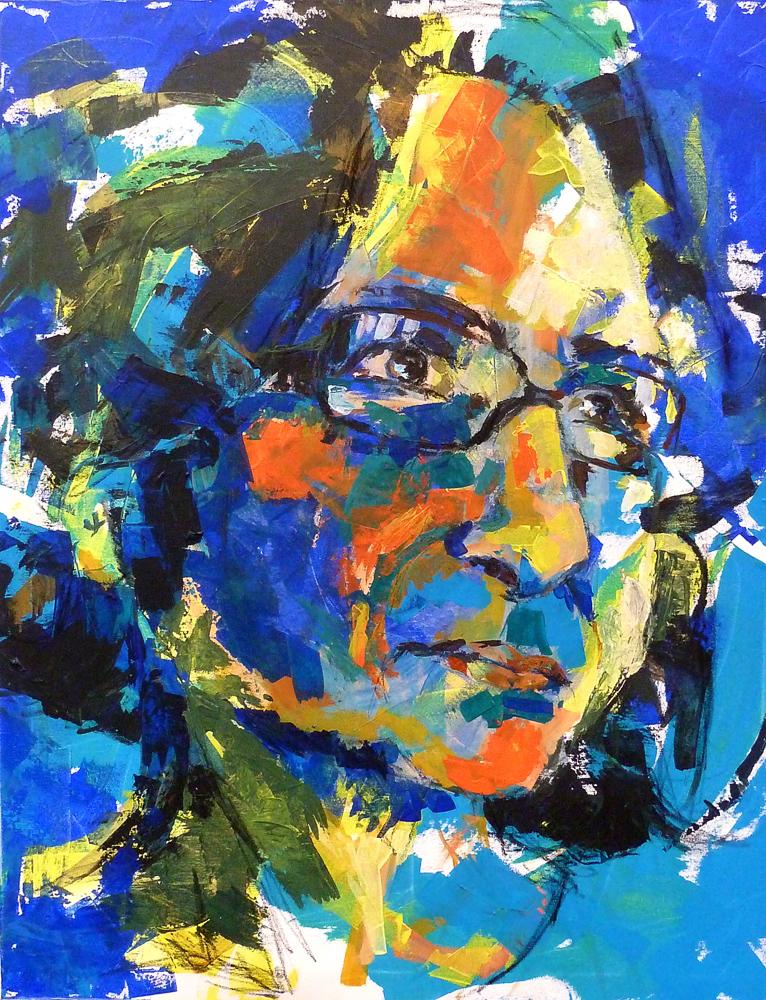 Porträt in Blau