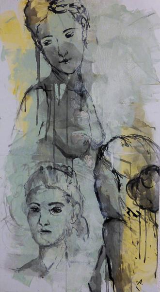 Drei Frauenköpfe