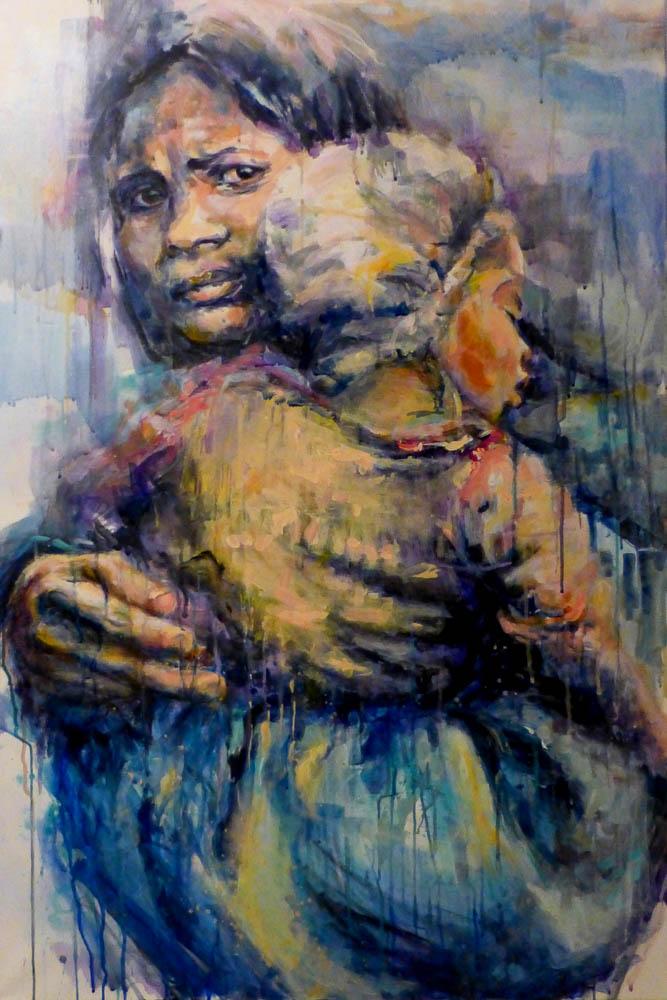 Mutterliebe, Acryl auf Leinwand, 2019