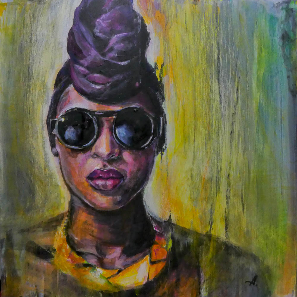 Taffet-Dalya-Sunglasses-Acrylic on wooden box