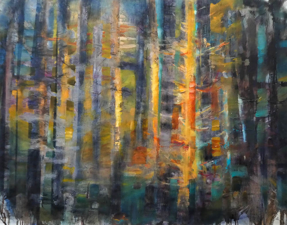 Wald, Acryl auf Leinwand, 2018